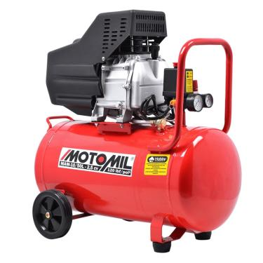 Compressor De Ar 2,5Hp Mam-10 / 50 Litros 120Lbs Bivolt Monofásico - Motomil