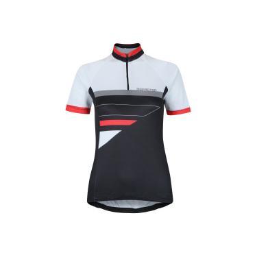 5a5aa51d6 Camisa de Ciclismo com Proteção Solar UV Refactor Spin - Feminina - PRETO/BRANCO  Refactor