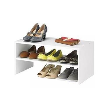 Sapateira Nicho Organizador Sapato Tênis Mdf Branco 60x30cm