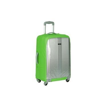 Capa Para Mala De Viagem transparente Sestini - Verde