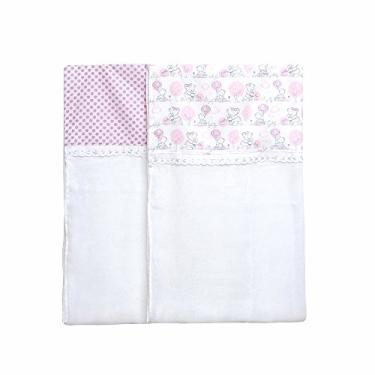Toalha De Fralda Compose, Papi Textil, Rosa