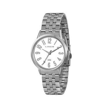 3d4bca57c1f Relógio Feminino Analógico Lince Pulseira em Aço 30M LRM4295L B2SX - Prata