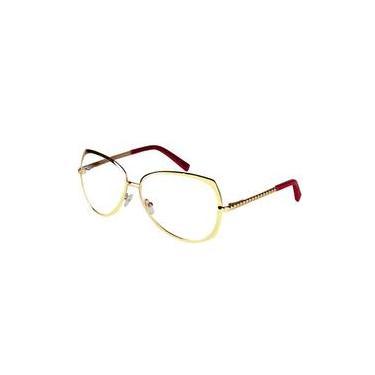 df7cb7d8bed75 Óculos De Grau Feminino Aviador Metal Grande 141159