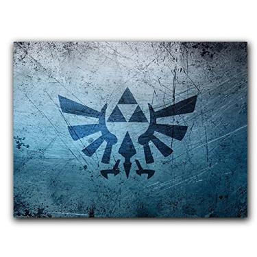 Placa Decorativa MDF Ambientes 20 cm x 30 cm - Zelda Link Ocarina of Time Breath of The Wild (BD01)