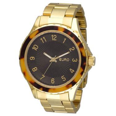 4e2d943f197 Relógio Euro Feminino Capri EU2035PY 4M - Dourado EU2035PY 4M