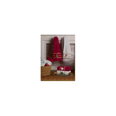 Imagem de Toalha de Rosto Natalina Papai Noel Vermelha 45x68 cm - Appel