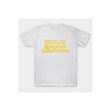 Camiseta Camisa Masculina Quentin Tarantino Nome Amarelo