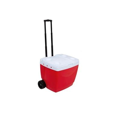 Imagem de Caixa Térmica 42 Litros Vermelha Com Rodinha Mor