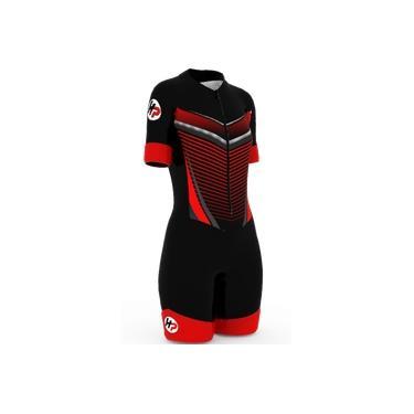 Macaquinho Ciclismo Forro Gel D80 F 39 Vermelho