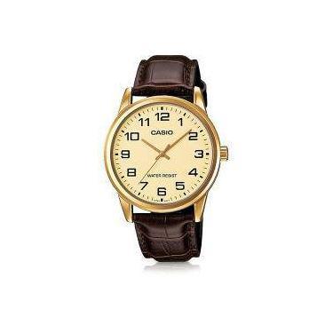 1ffb6c8da03 Relógio Masculino Casio Collection Mtp-V001gl-9budf - Marrom Dourado