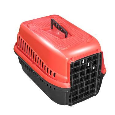 Caixa De Transporte N.2 Cão Cachorro Gato Pequena Vermelha