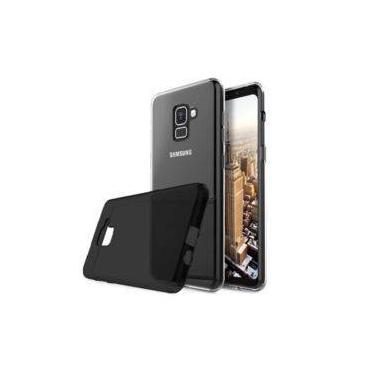Capa + Película de Gel tela Toda Samsung Galaxy A8+ Plus A730 Geração 2018