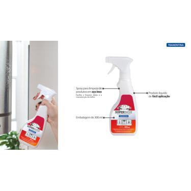 Spray para Polimento e Remoção de Manchas em Aço Inox Tramontina Design Collection  Tramontina 94537003