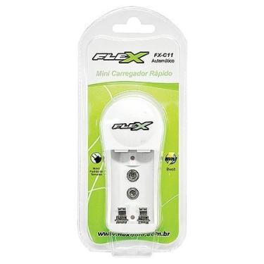 Carregador De Pilhas Aa Aaa Bateria 9v - Fx-c11 - Flex