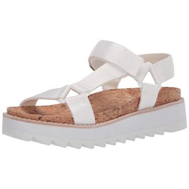 Sandália rasteira feminina Steve Madden Casi01d1, Branco, 6