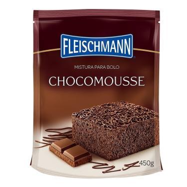 Mistura p/ Bolo Sabor Chocomousse 450g - 16 unidades - Fleischmann