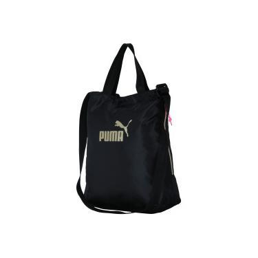 Bolsa Puma Core Shopper Seasonal - Feminina - PRETO OURO Puma c73a86bad73