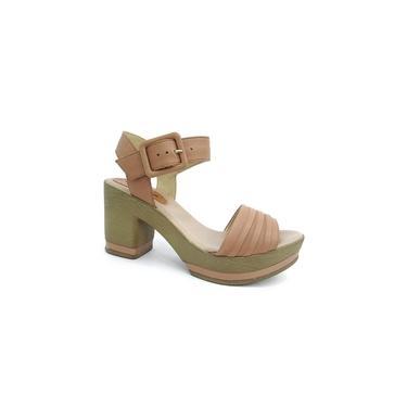 Sandalia Salto Grosso Couro 310701 Bottero (32) - Amendoa