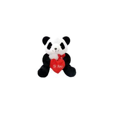 Imagem de Pelúcia Urso Panda Com Coração Te Amo - 28 Cm