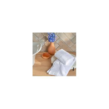 Imagem de Jogo de Toalhas para Lavabo Fio Penteado Le Bain Noiva 2 Peças artex - Lavabo - Branco