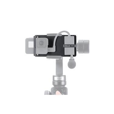 Placa Ulanzi PT-6 Switch Mount Placa Vlog com Mic Adaptador para GoPro Hero 7 6 5 para DJI Moza Mini S Zhiyun Suave 4 Vimble 2 Telefone Gimbals