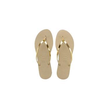 Chinelo Feminino Havaianas You Metalic Areia/Dourado-4135102