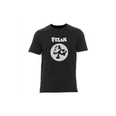 Camiseta Gato Felix Estampa Prata - Masculina