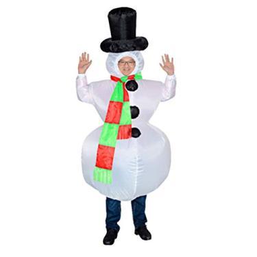 Imagem de Holibanna Fantasia inflável de boneco de neve para adultos, cosplay, festa de Natal, fantasia de Natal