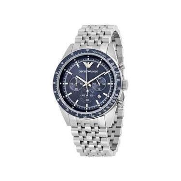 Relógio Masculino Emporio Armani `Sportivo` Chronograph Stainless Steel -  Modelo Ar6072 f763bc41a1