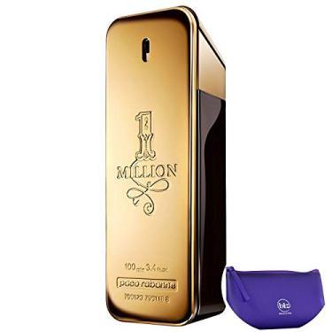 1 Million Paco Rabanne Eau de Toilette - Perfume Masculino 100ml+Necessaire Roxo com Puxador em Fita