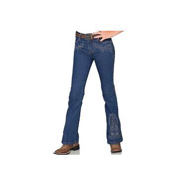 Calça Jeans Feminina Infantil Bill Way Boot Cut NSA Flare Azul Stone