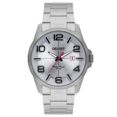 fb7aa2c5302 Relógio Masculino Orient MBSS1289 G2SX - Prata Cinza