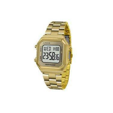 8bbb122b739 Relógio Lince Feminino Ref  Sdg615l Bxkx Digital Dourado