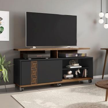 Rack Para Tv Até 52 Pol Móveis Bechara Topázio Com Rodízios