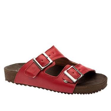 Imagem de Sandália Feminina Birks 214 em Couro Framboesa Doctor Shoes-Vermelho-35