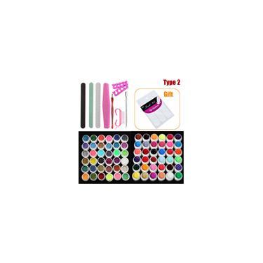 Imagem de Nova Acrílico Powers Manicure Unhas Kit Dicas Acrílico Cortador Glitter Strass Arquivo Escova Manicure Unha Art Ferramenta Set Kit Gel 2019
