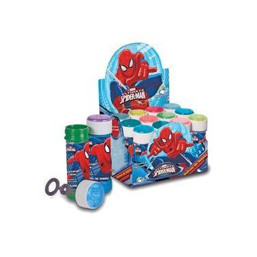 Bolha De Sabao Spider-man 60ml C/jogo Cx.c/12