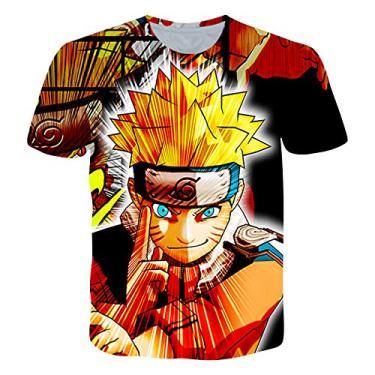 Camiseta masculina Naruto Minato feminina Naruto Camisetas para Kakashi casual de manga curta Akatsuki Kakashi Uchiha Itachi Tops, Tk3579, S
