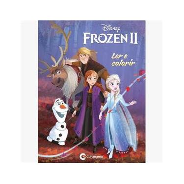 Imagem de Livro Frozen 2 Ler e Colorir Médio