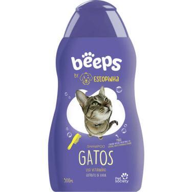 Shampoo Pet Society Beeps Estopinha Gatos Extrato de Aveia - 500 mL