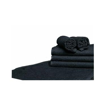 Imagem de Kit 30 toalhas de lavabo para manicure preta salão beleza