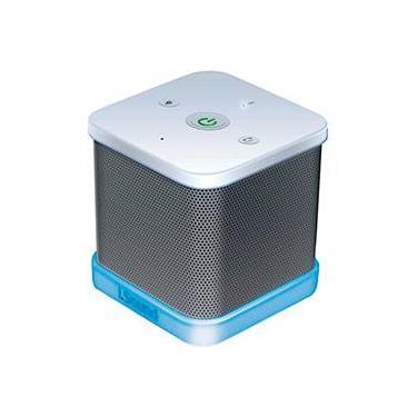 Caixa de Som Bluetooth Isound Iglowsound Cube Branca
