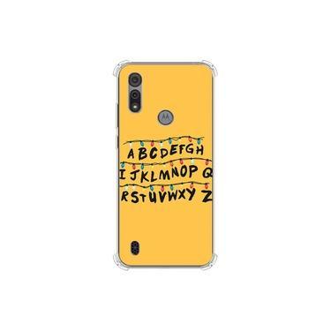 Capa para Moto E6s - Stranger Things | Alfabeto Luzes