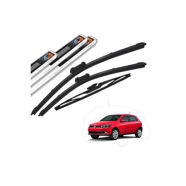 Palheta Limpador Parabrisa Volkswagen Gol G6 2013 a 2017 Dianteiro e Traseiro Original AutoImpact