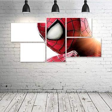 Quadro Decorativo - The-Amazing-Spider-Man- - Composto de 5 Quadros