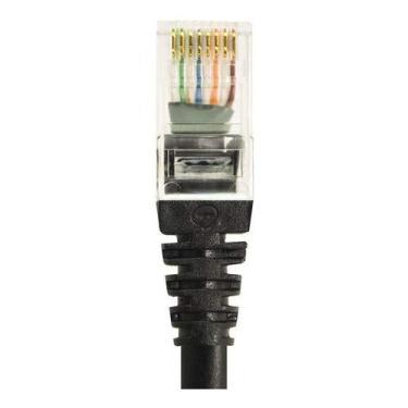 Cabo De Rede Patch Cord Ethernet Cat6 Lan Rj45 Preto 1 Metro