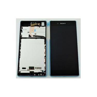 "Frontal Lcd Touch Screen Xperia Sony Z4 E6508 / Z3+ Plus E6533 5.2"" Com Aro Original"