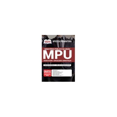 Imagem de Apostila MPU 2021 - Técnico do MPU – Espec: Administração