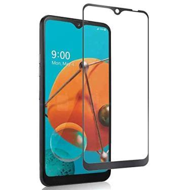 [2 pacotes] Protetor de tela LG K51, protetor de tela de cobertura total, protetor de tela transparente HD de vidro temperado para LG K51