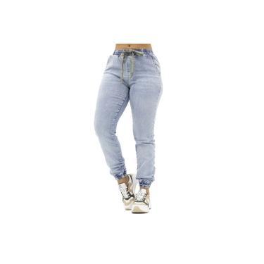 Calça Jeans Jogger com Laço Dourado Biotipo